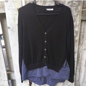 Madewell layered lightweight cotton cardi M